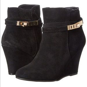 Chinese Laundry Unleash Suede Wedge Booties